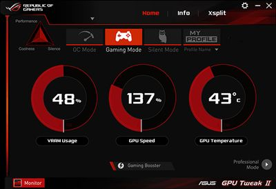 ASUS GPU Tweak II screenshot