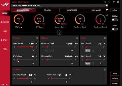 GPU Tweak III screenshot