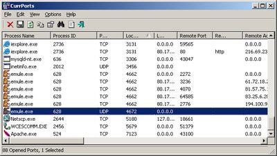 CurrPorts screenshot