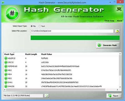 HashGenerator screenshot