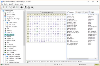 HE - Hardware Read Write Utility screenshot