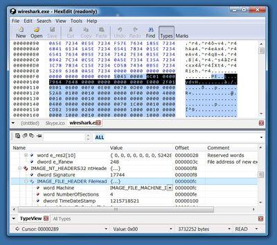 HexEdit screenshot