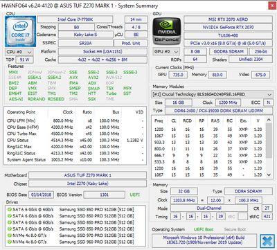 HWiNFO64 screenshot