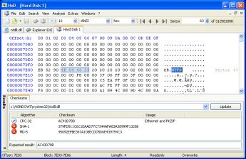 HxD - Hex Editor and Disk Editor screenshot