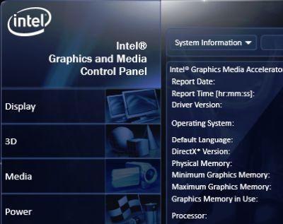 Intel Graphics Driver screenshot