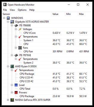 Open Hardware Monitor  screenshot