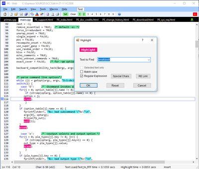 ProgramEdit screenshot