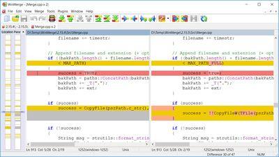 WinMerge screenshot