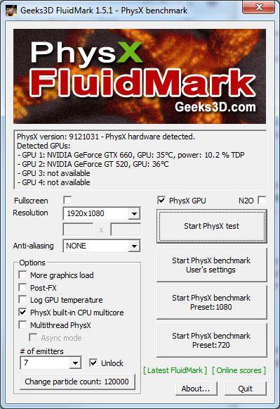 PhysX FluidMark 1.5.1