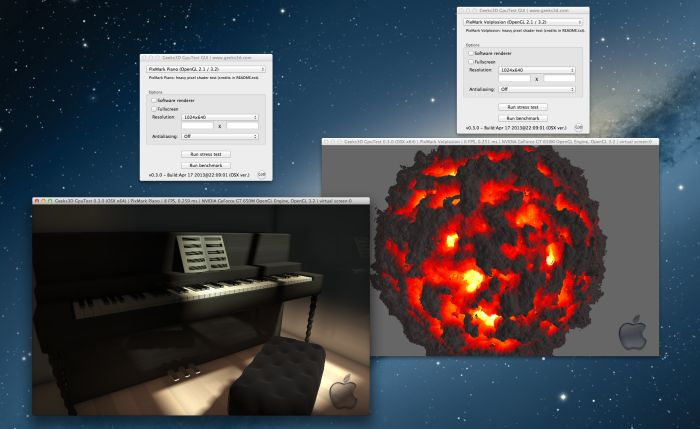 GPUTest, cross-platform OpenGL benchmark