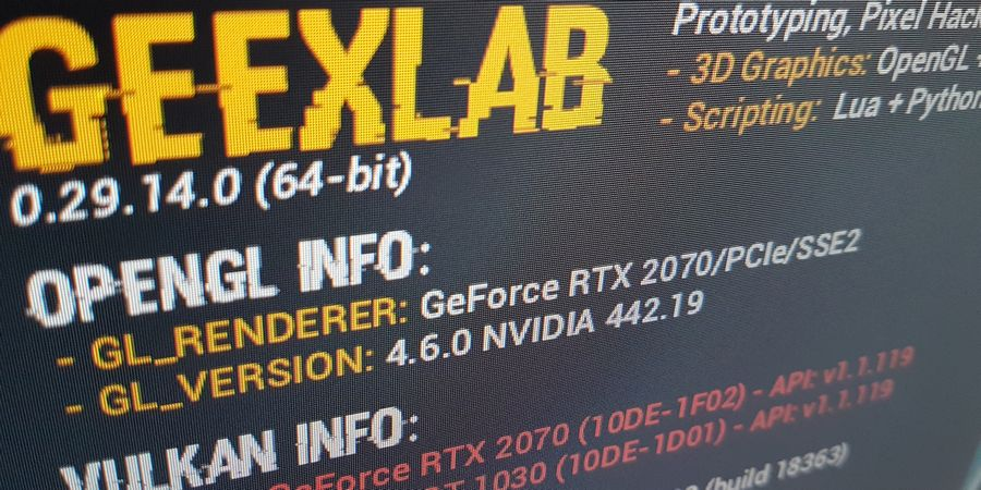 GeeXLab: 3D programming and prototyping for Win64, Linux64, macOS, RaspberryPi and TinkerBoard