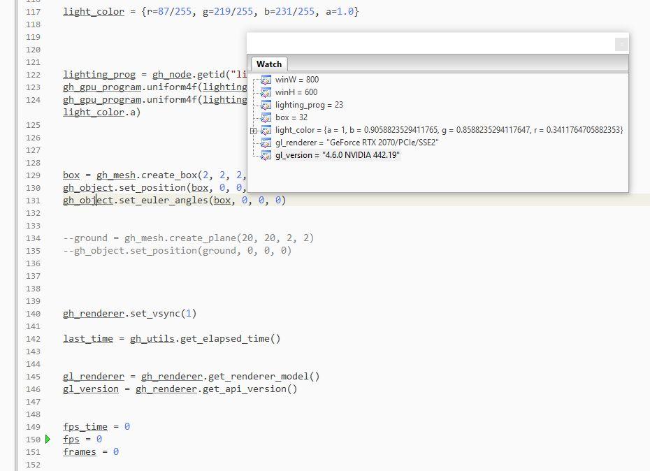 ZeroBrane Studio + GeeXLab + Lua debugging