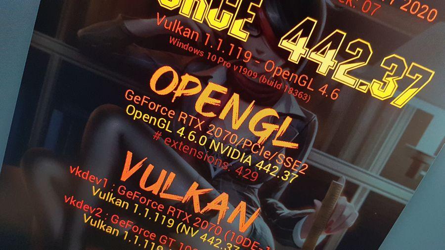 NVIDIA 442.37 + RTX 2070 + Vulkan 1.1.119