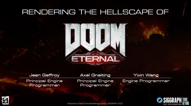 idTech 7: Rendering the Hellscape of Doom Eternal (SIGGRAPH 2020)